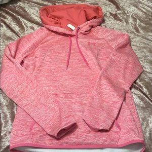 Pink under armor hoodie!